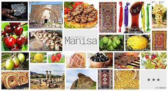 Manisa'nın meşhur şeylerini gösteren resimlerden oluşan kolaj