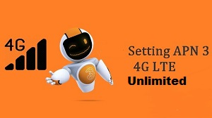 Setting/Pengaturan APN 3 4G Unlimited