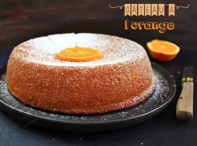 gateau orange sans farine