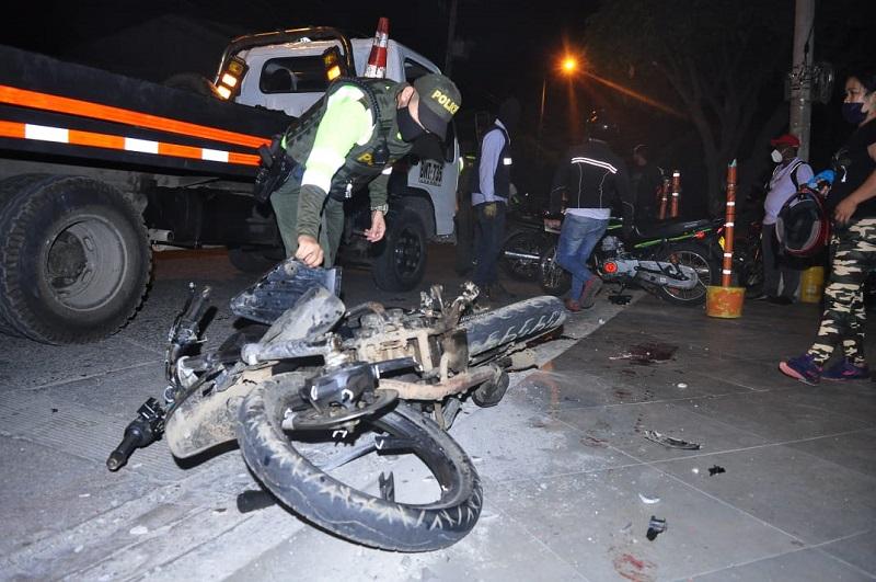 hoyennoticia.com, 'El Palomo' voló tras arrollar a un motociclista en Valledupar