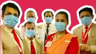 This is the first flight in India to be fully vaccinated against covid