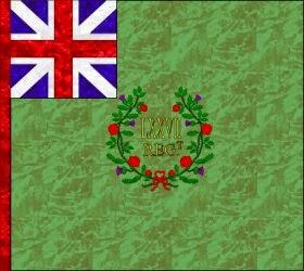 77th Regiment of Foot  Regimental Colour