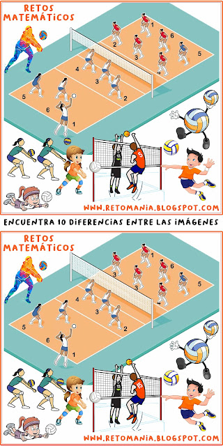Desafíos matemáticos, Retos matemáticos, Problemas matemáticos, Problemas de matemáticas, Diferencias, Busca las diferencias, Encuentra las diferencias