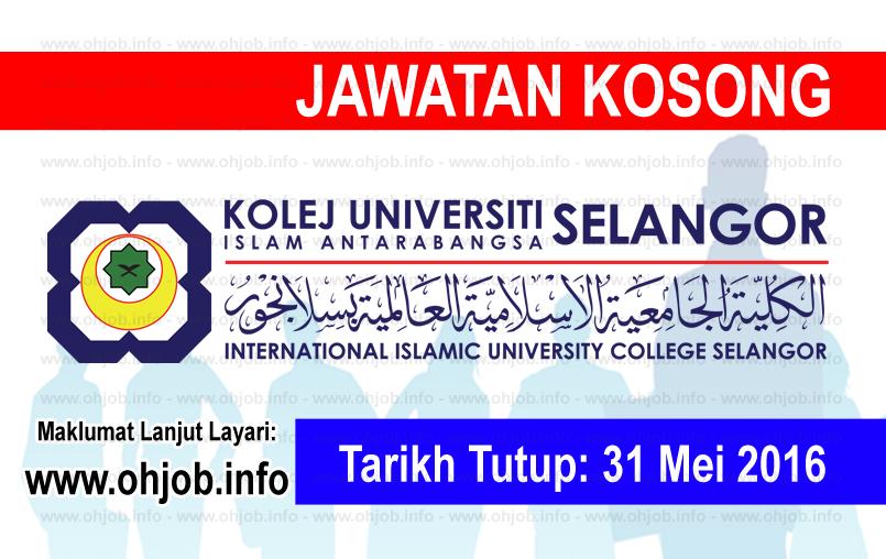 Jawatan Kerja Kosong Kolej Universiti Islam Antarabangsa Selangor (KUIS) logo www.ohjob.info mei 2016