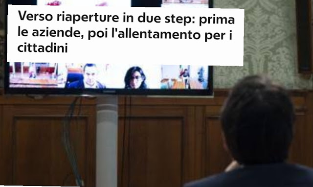 إيطاليا تسير نحو فتح البلاد بعد إغلاقها بسبب كورونا، على مرحلتين: البداية  للشركات ثم الأشخاص