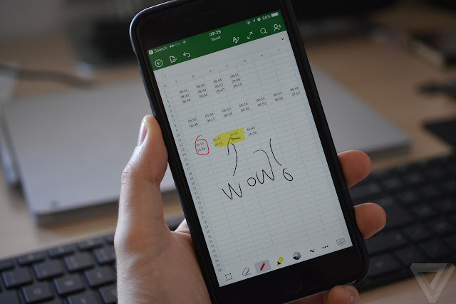 Now Microsoft Office For iPhone Features With Lets You Draw With Finger
