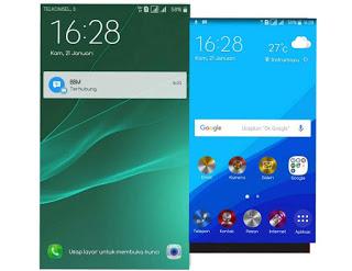 Tema Xperia Z5 untuk Samsung