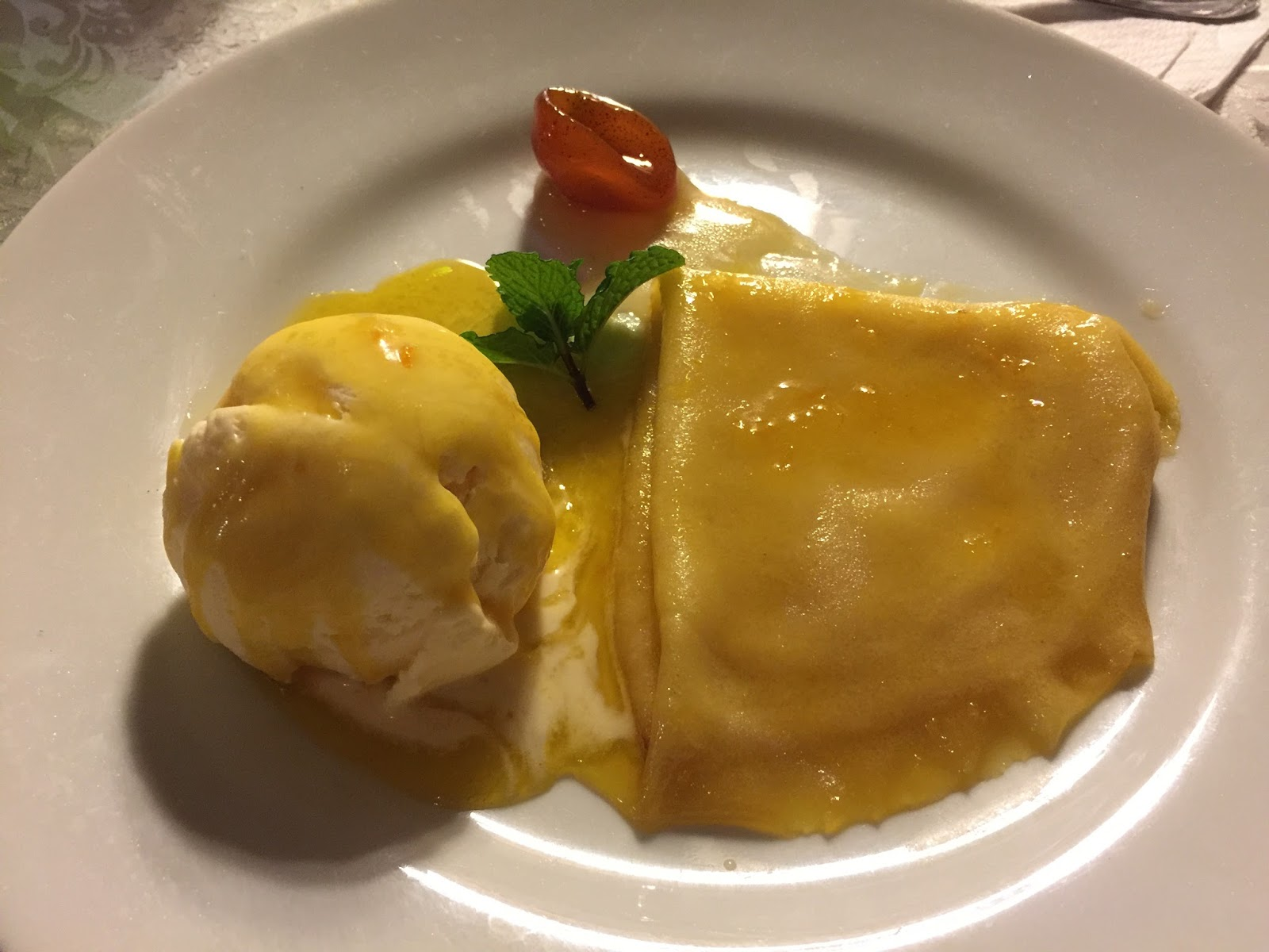 Crepe suzette restaurante Don Claudino