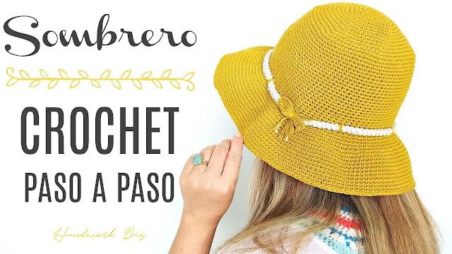 Aprende a Tejer Sombrero a Crochet Paso a Paso