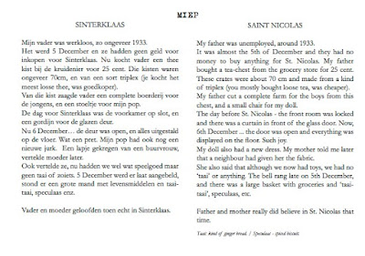 sample page from  Snapshots by Corina Duyn, with text both in English and Dutch