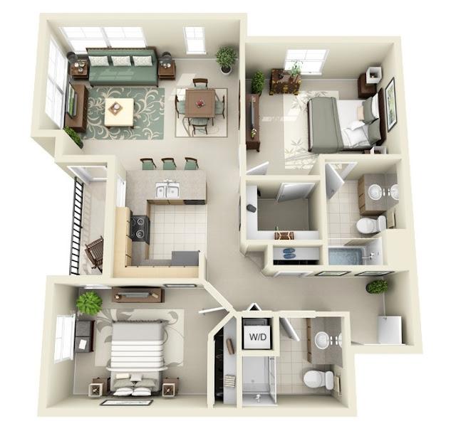 Denah Rumah Minimalis Pinterest