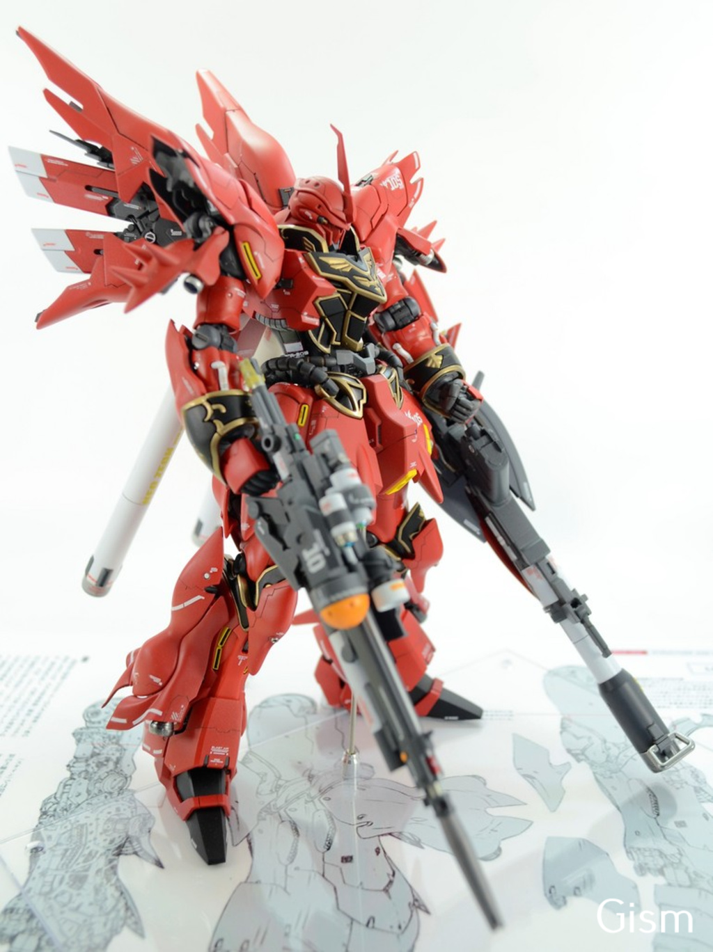 Custom Build: RG 1/144 MSN-06S Sinanju [Detailed]