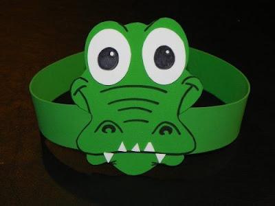 máscara de cocodrilo en foami