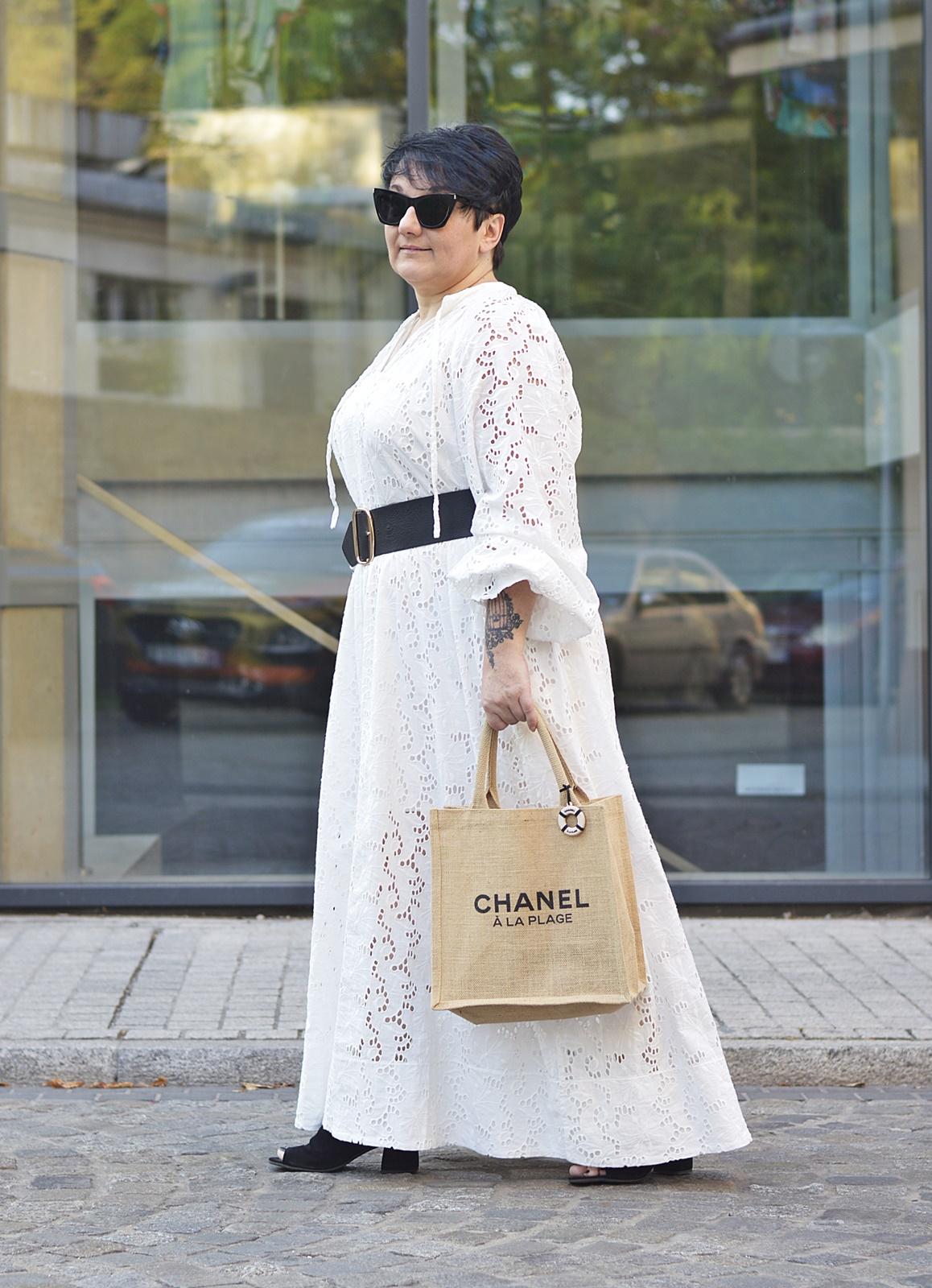 Haftowana sukienka maxi by H&M