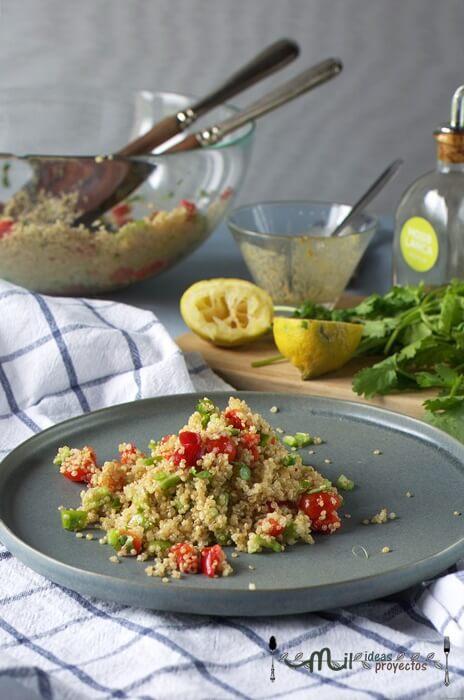 ensalada fácil de quinoa