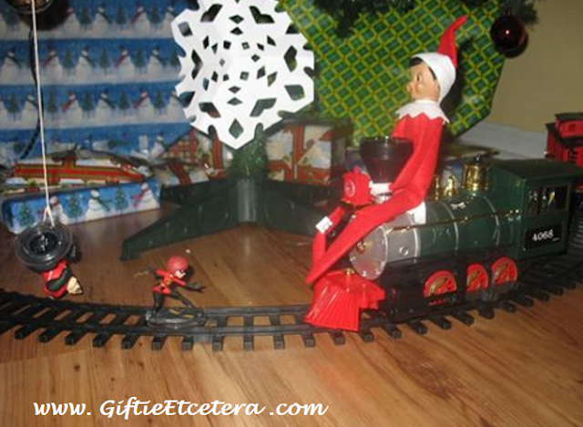 Elf on the Shelf Ideas, train