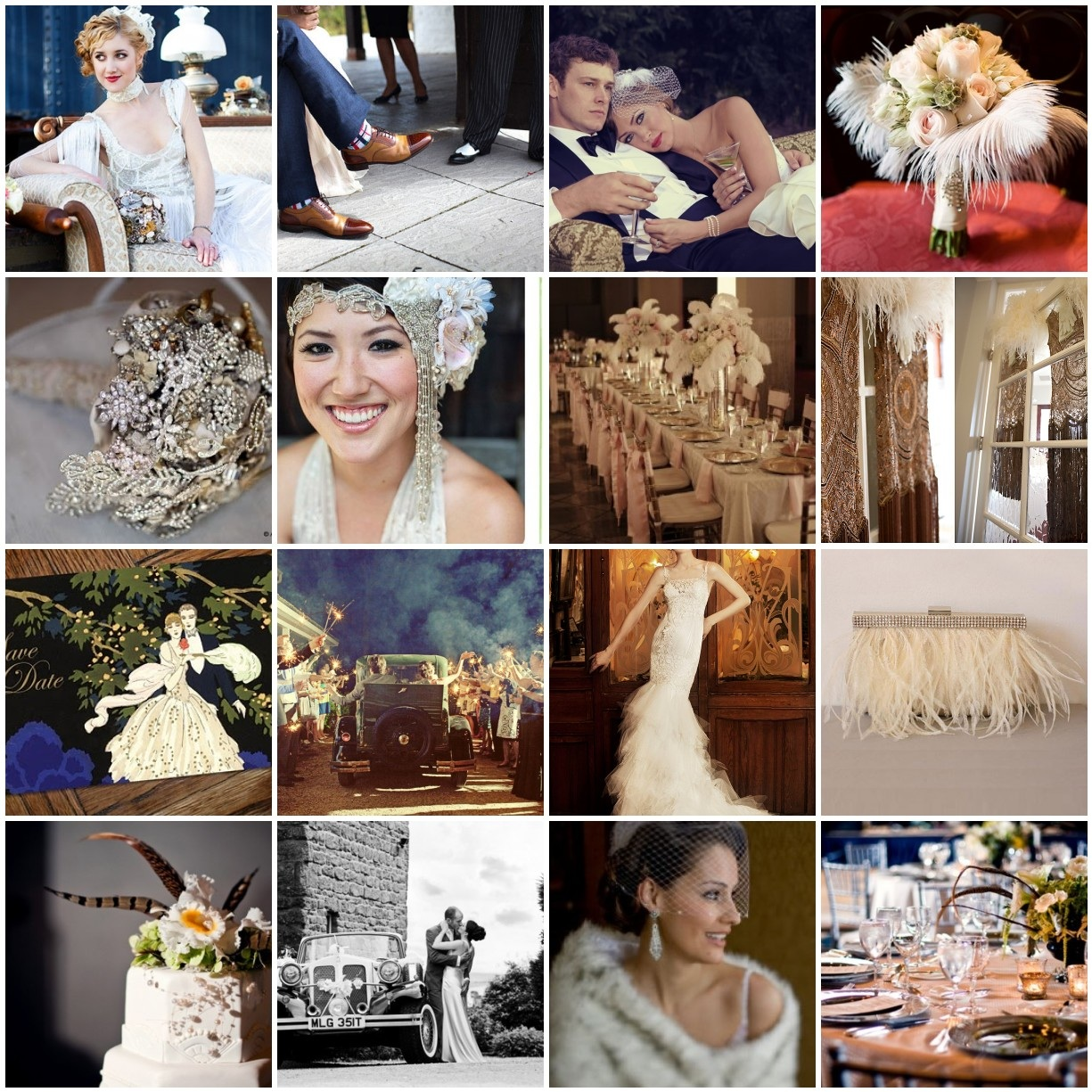 1920s Vintage Wedding Ideas: Lovelies And Lace: 1920's Glam Inspired Wedding