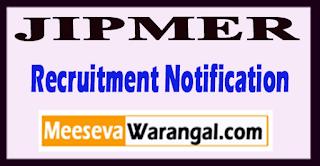 JIPMER Jawaharlal Institute of Postgraduate Medical Education Research Recruitment Notification 2017 Last Date 14-07-2017