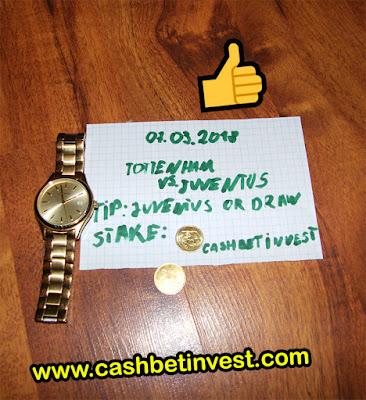 Tottenham - Juventus 07.03.2018 - Cash Bet Invest