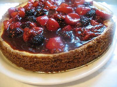Ricotta Cheesecake with Mixed Berries and Balsamic Vinegar