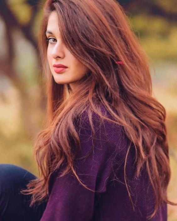 cute long hair girl dp