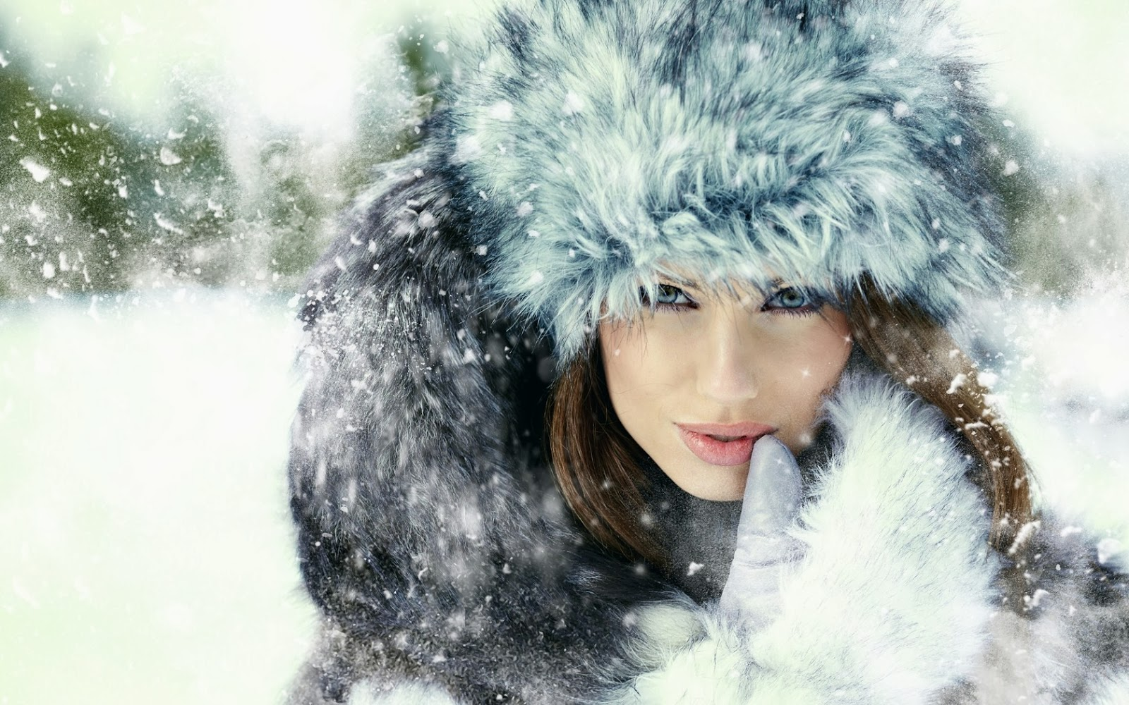 gadis-fashion-foto-musim dingin-salju-kepingan salju-wallpaper-1680x1050