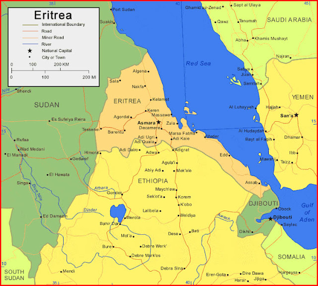 image: Map of Eritrea