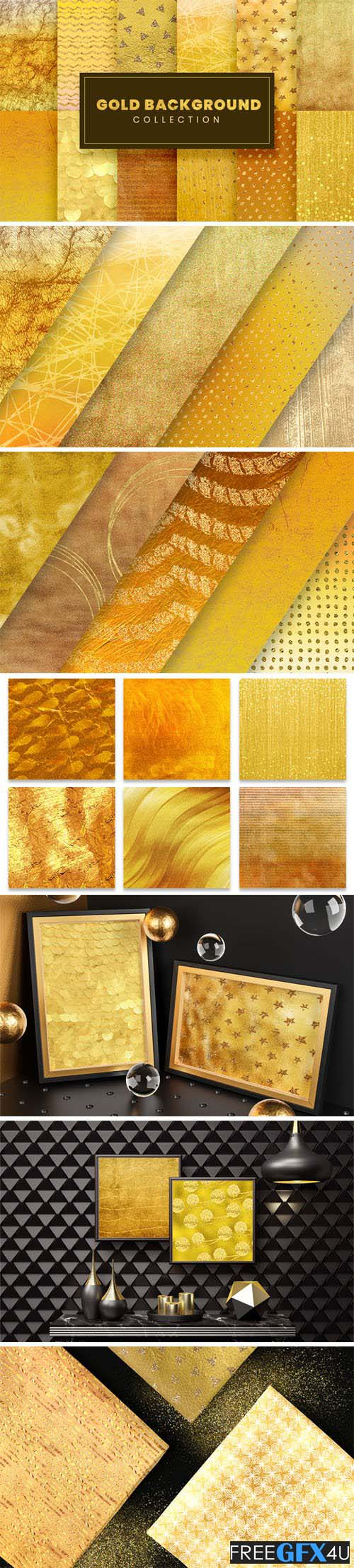 25 Gold Backgrounds Collection Pack