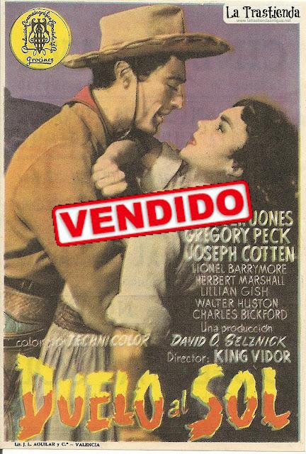 Programa de Cine - Duelo al Sol - Gregory Peck - Jennifer Jones - Joseph Cotten