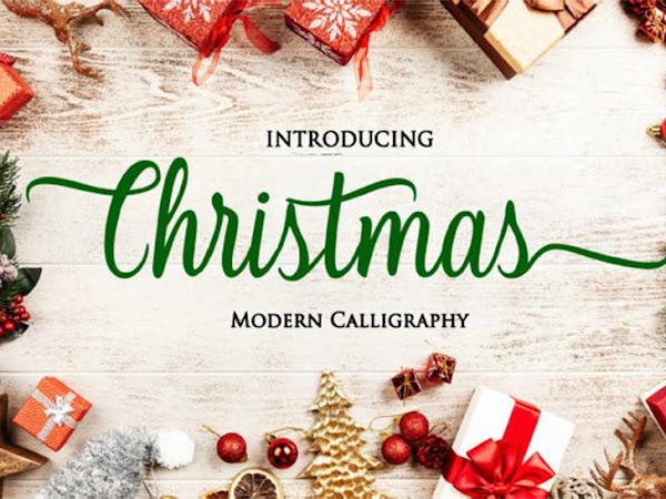 Christmas Scrip Font Free
