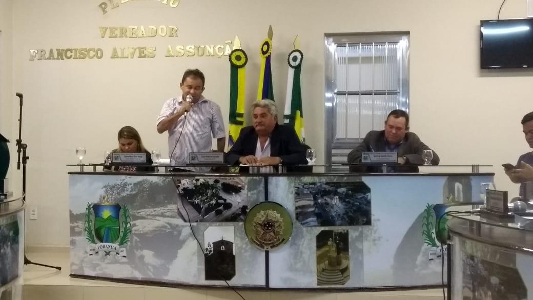 Resultado de imagem para vice prefeito poranga toma posse imagem