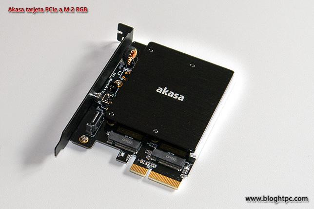 DETALLE AKASA ADAPTADOR PCIEXPRESS A M.2 RGB