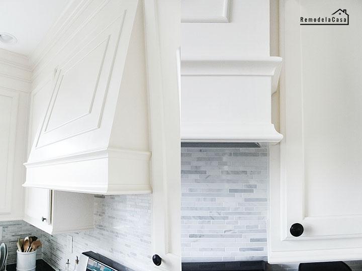 Builder's grade kitchen makeover with diy range hood