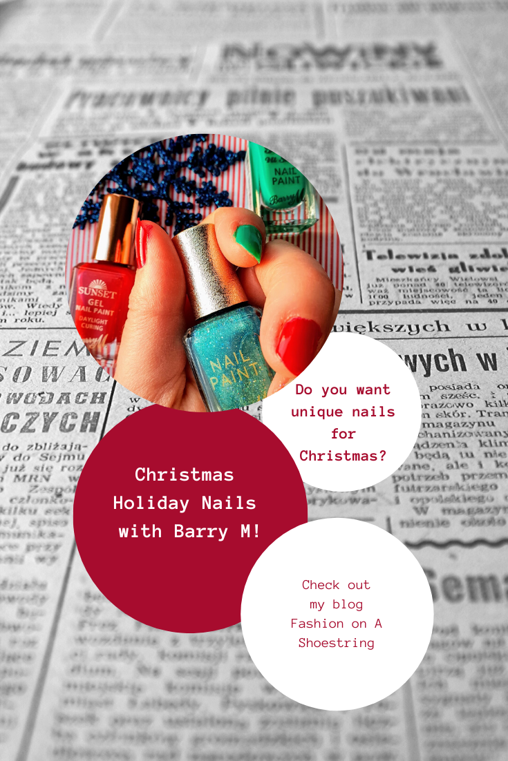 Christmas Holiday Nails with Barry M: Red, Green, Sparkle