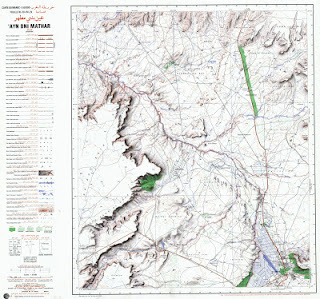 Ain Beni Methar Morocco 50000 (50k) Topographic map free download