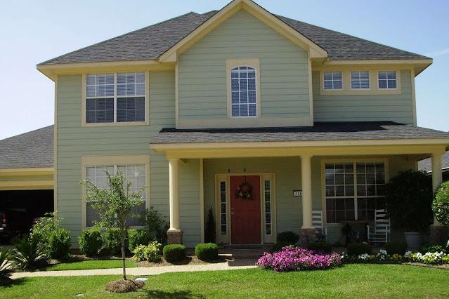 Trend warna cat depan rumah 2020 modern #3