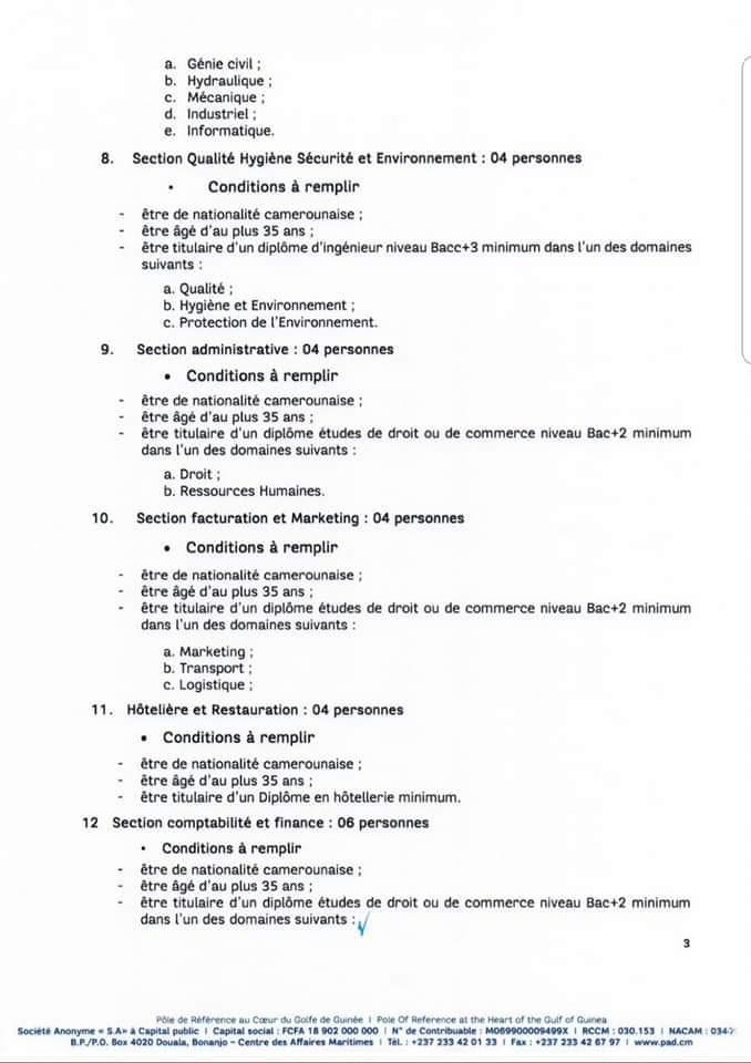 Recrutement massif au Port Autonome de Douala