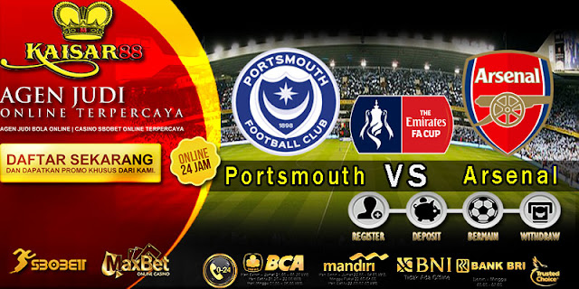 Prediksi Bola Terperceya Liga English FA Cup Portsmouth vs Arsenal 03 Maret 2020