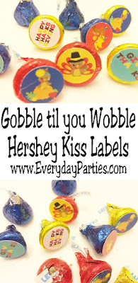 Gobble til you Wobble this year at your Thanksgiving dinner party with these super cute and easy Thanksgiving Hershey kiss labels that are perfect for your Thanksgiving dessert table. Get the free printable now and be ready with a yummy and full Thanksgiving treat.  #thanksgivingdessert #thanksgivingprintable #hersheykisslabel #hersheykisssticker