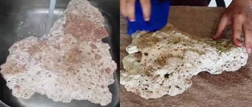 How to clean a coral rock