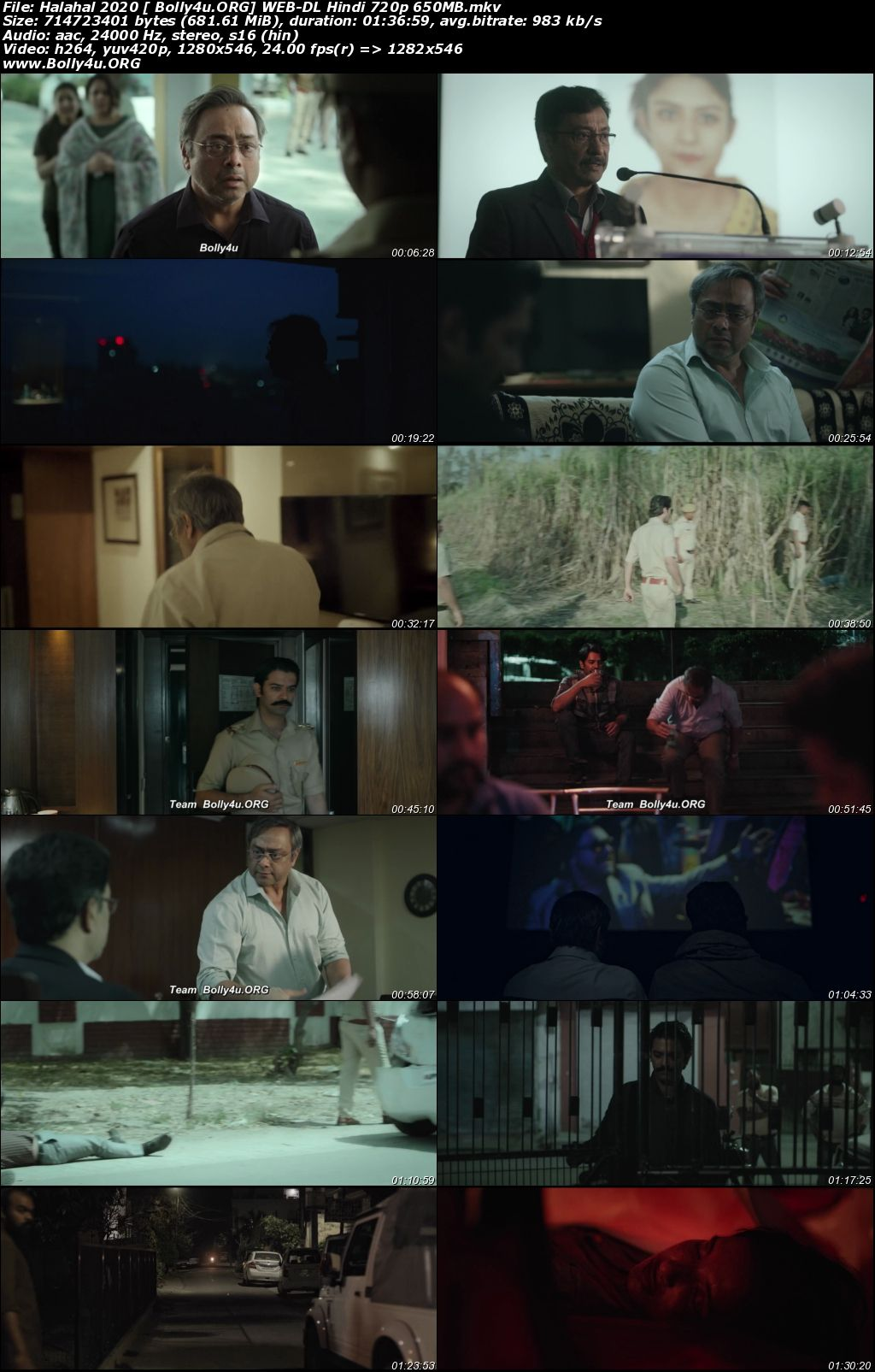Halahal 2020 WEB-DL 300Mb Hindi Movie Download 480p Download