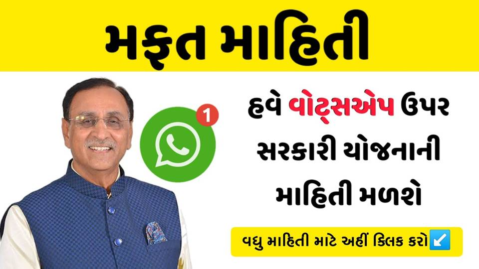 Send Hi on Gujarat Government Yojna Whatsapp Helpdesk Number And Get All Yojana Information