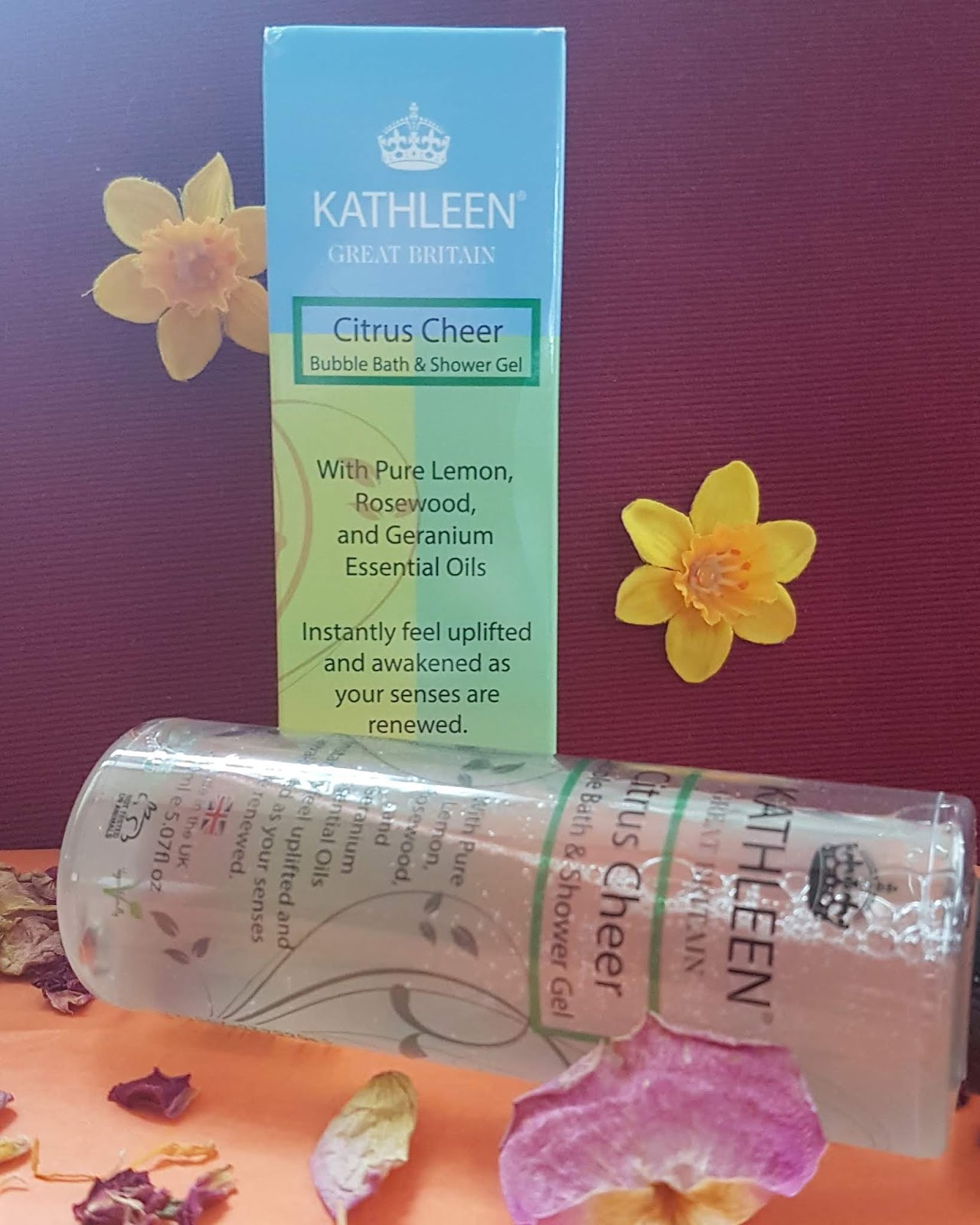 The Natural Beauty Box Review - Kathleen Natural Citrus Cheer Bubble Bath & Shower Gel