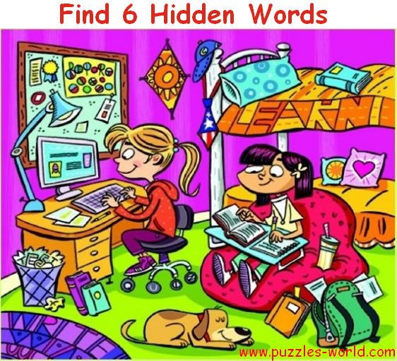 Find 6 Hidden Words