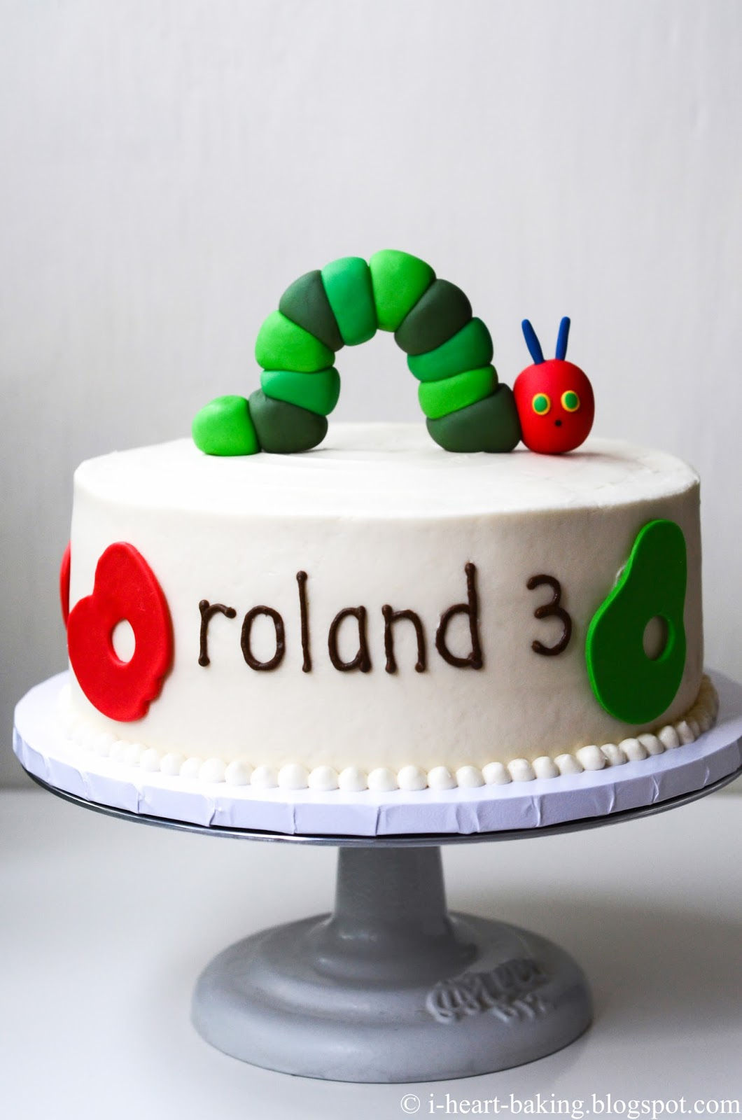 I Heart Baking Hungry Caterpillar Birthday Cake With Handmade