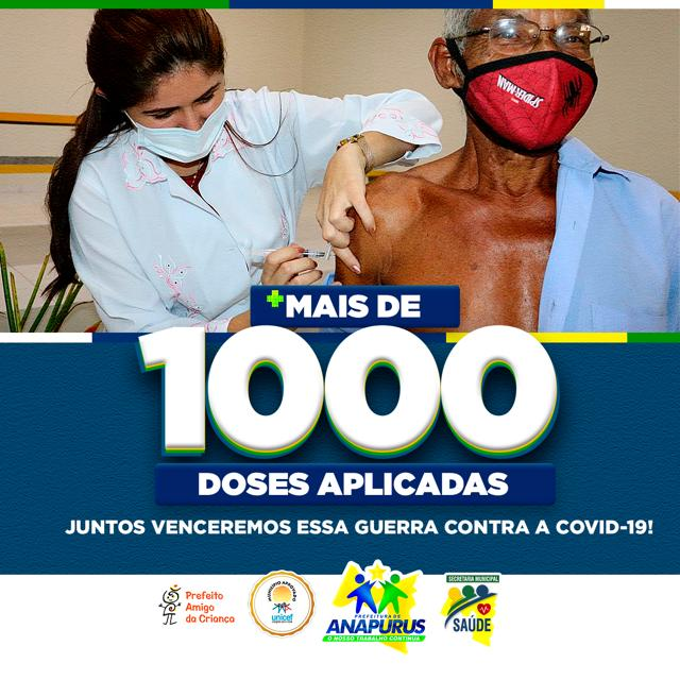 Anapurus tem mais de um mil pessoas vacinadas contra a Covid-19