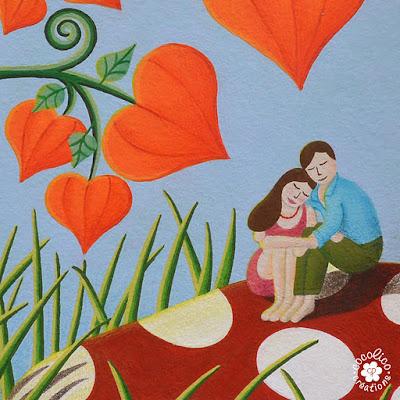 Illustration personnages couple amoureux montpellier