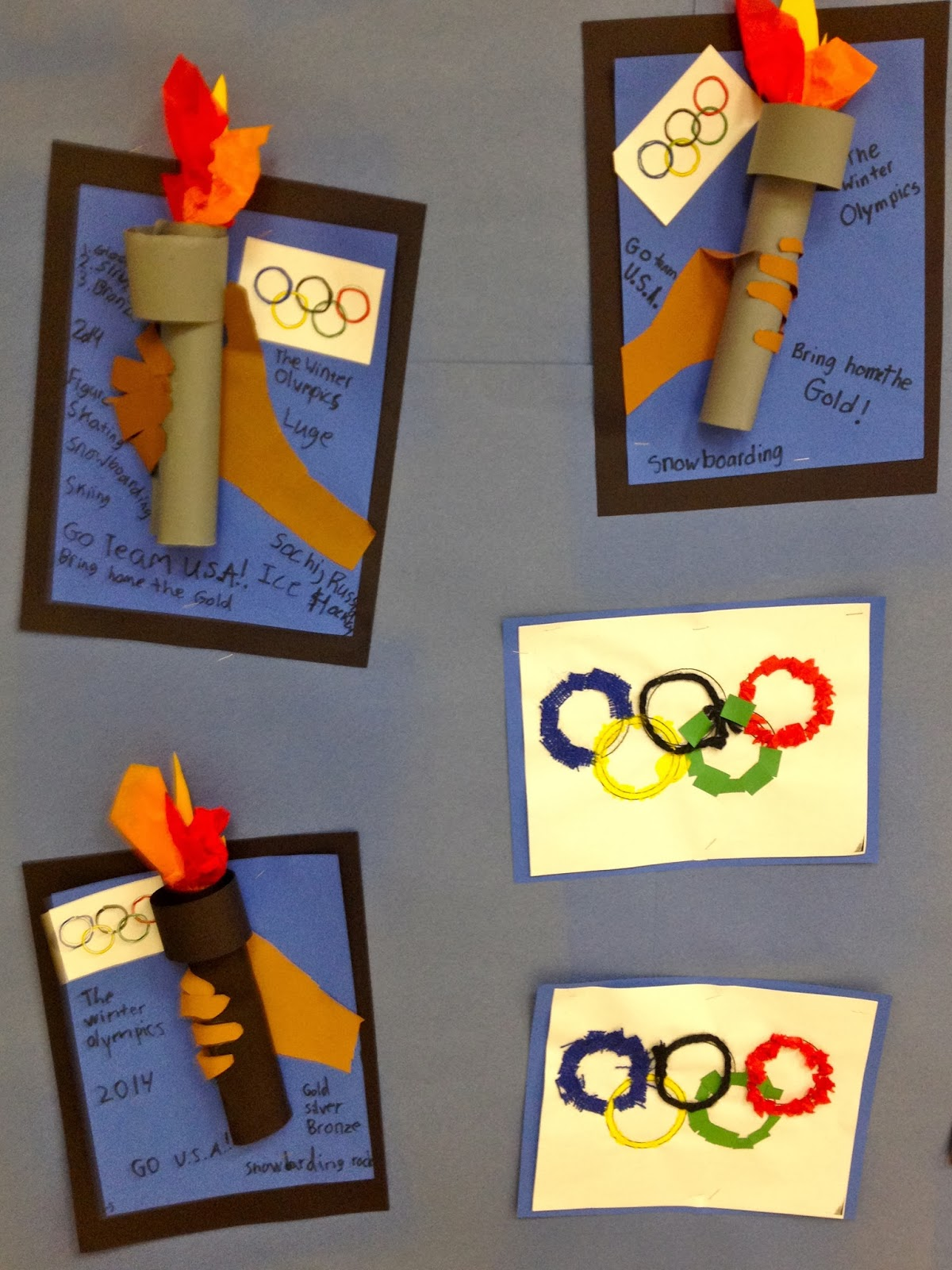 Art With Mr Giannetto 2nd Grade Olympic Torch