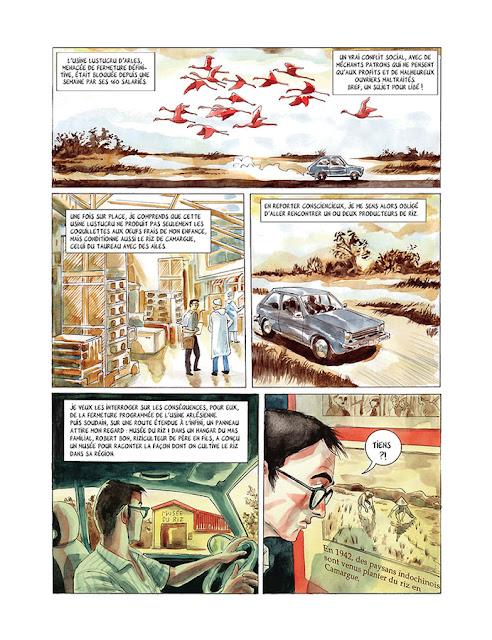 """Page de """"Les Linh Tho, Immigrés de force, Mémoires de Viet Kieu"""" de Pascal Daum et Clément Baloup chez La boîte à Bulles"""