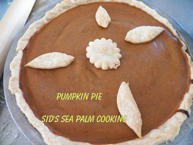 Pumpkin Pie- Sid's Sea Palm Cooking